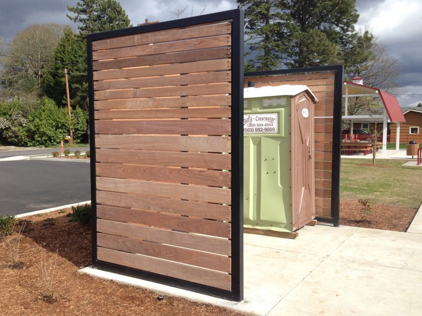 Barsotti Park Wood Screens Backyard Exterior Design