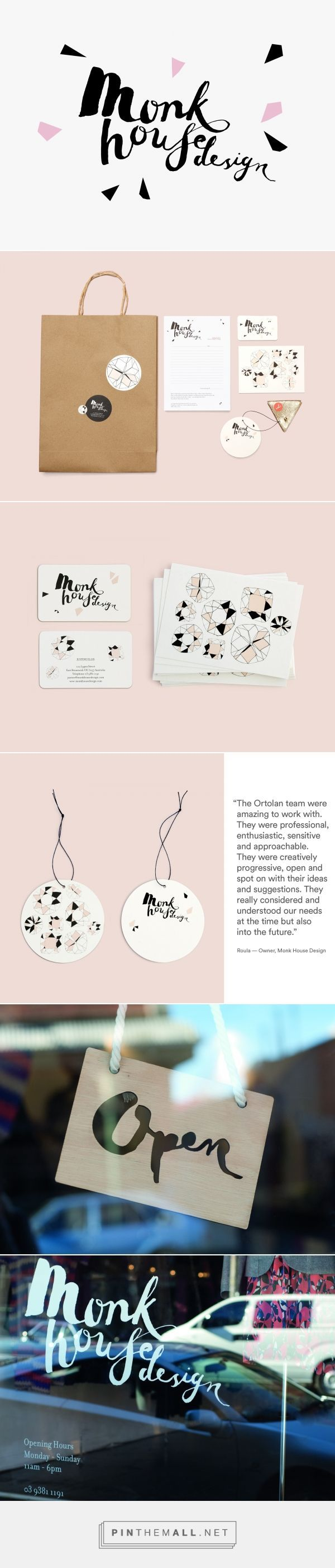 Ortolan : Projects : Branding + Identity : Monk House Design