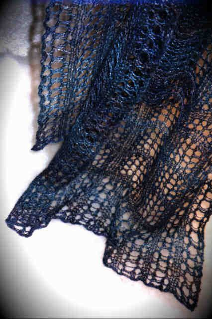 Knitting Pattern For Silk Scarf : Crest of the Wave Lace Scarf. HeartStrings knitting pattern #A20. Shown here ...