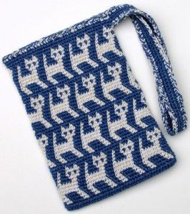 Theyre the cats meow free crochet patterns for cat lovers a perrrrfectly wonderful tapestry crochet kitty bag by carol ventura and more free crochet patterns dt1010fo