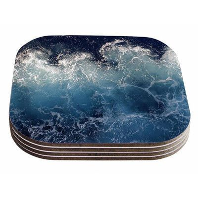 KESS InHouse Sea Spray by Suzanne Carter Coaster