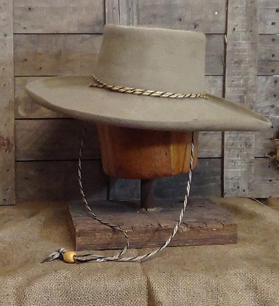 Lil Grizz Southwestern telescoped hat historic cowboy hat felt hat