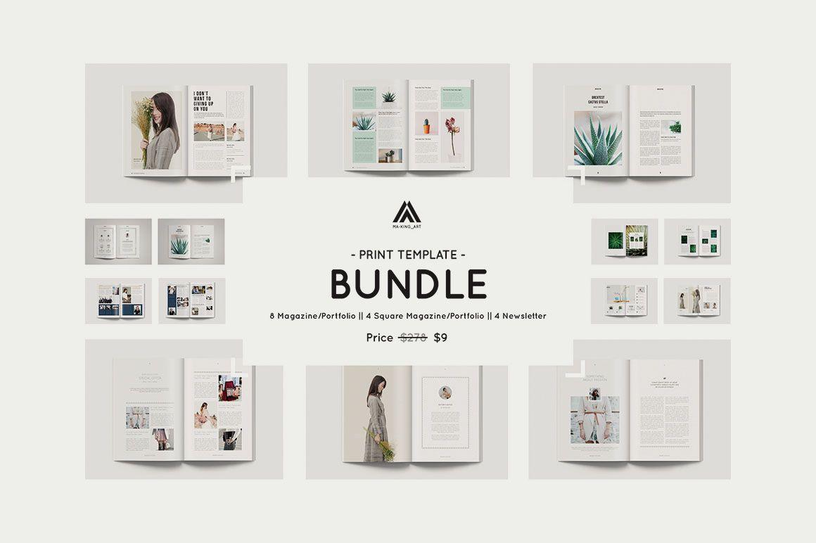 16 Modern Indesign Print Templates Design Layouts Pinterest