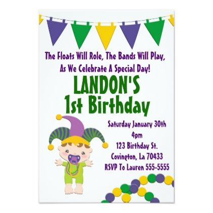 Mardi gras theme birthday party invitation mardi gras theme birthday party invitation birthday cards invitations party diy personalize customize celebration stopboris Choice Image