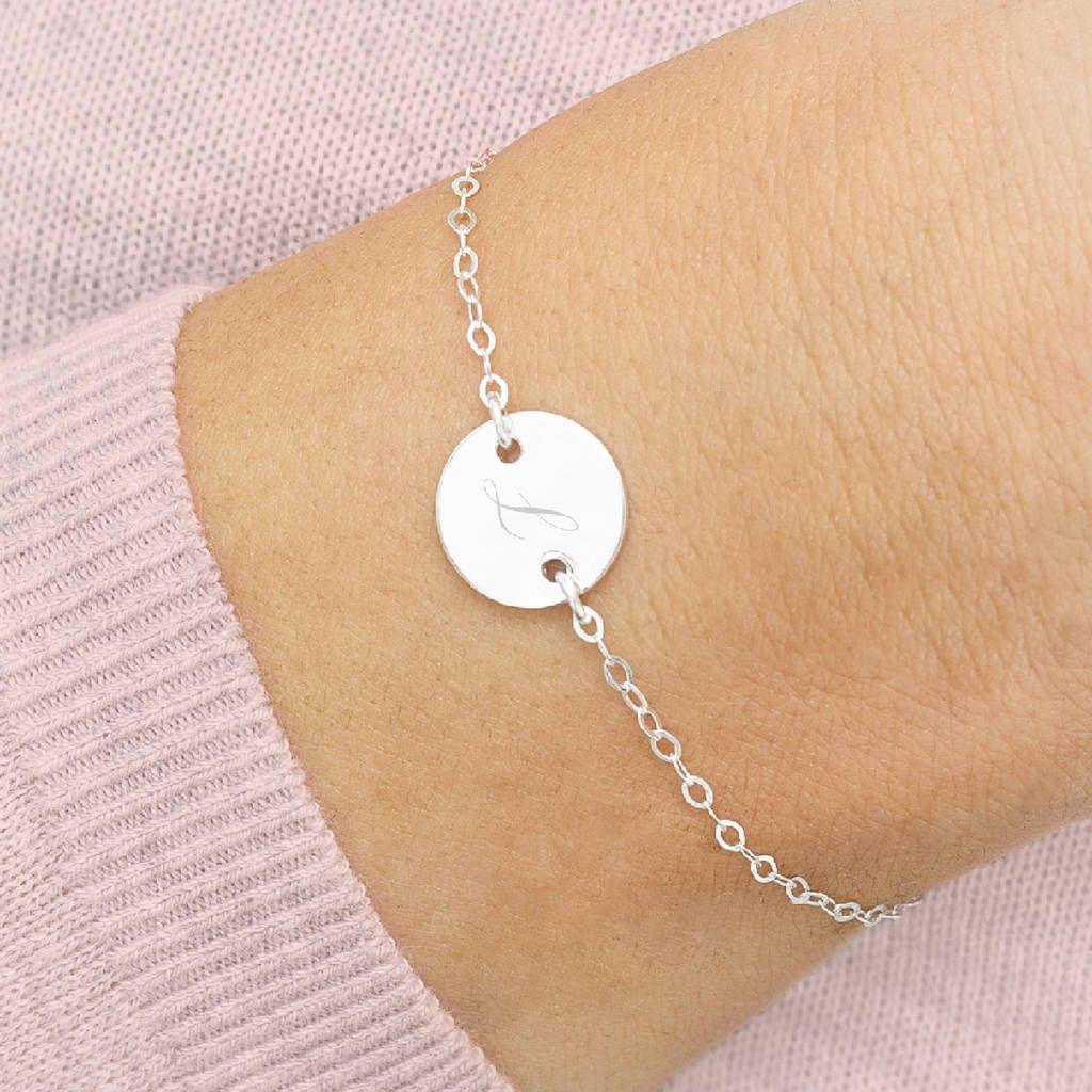 Personalised Initial Disc Bracelet