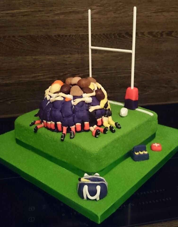 Rugby themed cake Cakes I Have Made Pinterest Themed cakes