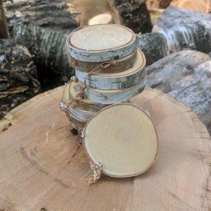 Birch Log Slices Birch Wood Slices Birch Craft Wood Wood Slices Tree Slices Log Slices Birch Slices Set Of 10 Or 20 Birch Craft Crafts Wood Slice Crafts