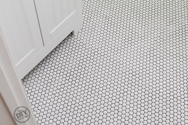 How To Install Penny Tile The Diy Village Penny Tiles Bathroom Floor Penny Tiles Bathroom Penny Tile