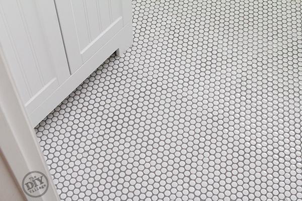 How to install penny tile diy ideas penny tile floors - Tile installation bathroom floor ...
