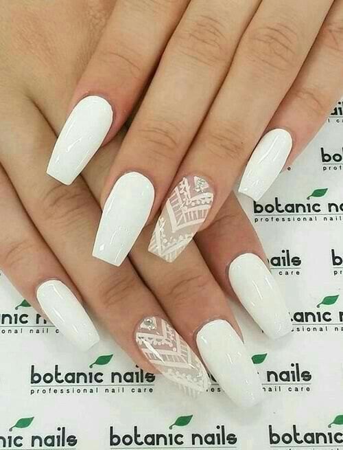 100 Best Wedding Nail Ideas For The June Brides Botanic Nails Coffin Nails Designs Fake Nails