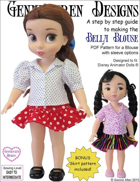 BELLA BLOUSE FOR DISNEY ANIMATOR DOLLS