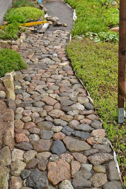 kivityöt, luonnonkivipolku