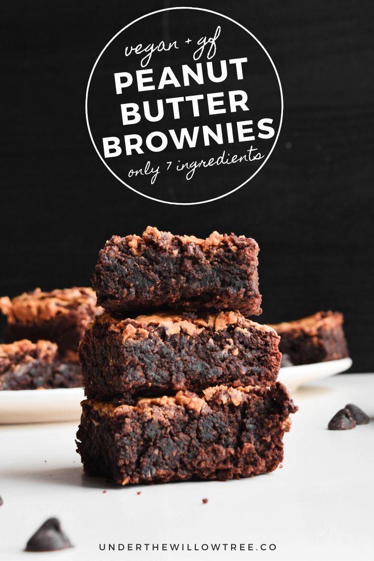 Photo of Vegan GF Peanut Butter Brownies