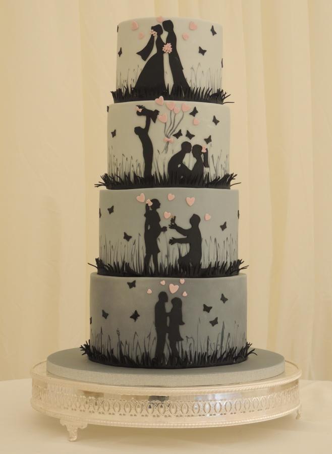 Love Story Silhouette Wedding Cake By Shereen Cake Ideas