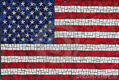 mosaic american flag with