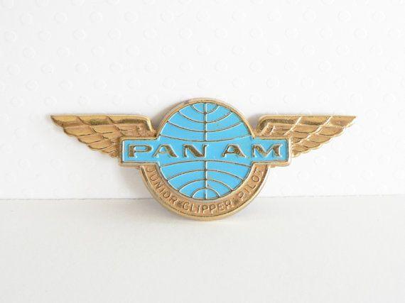 "2 Pan Am airlines Pin Badge 3//4"" Logo PanAm Amrican 747 AVIATION AIRWAYS LAPEL"