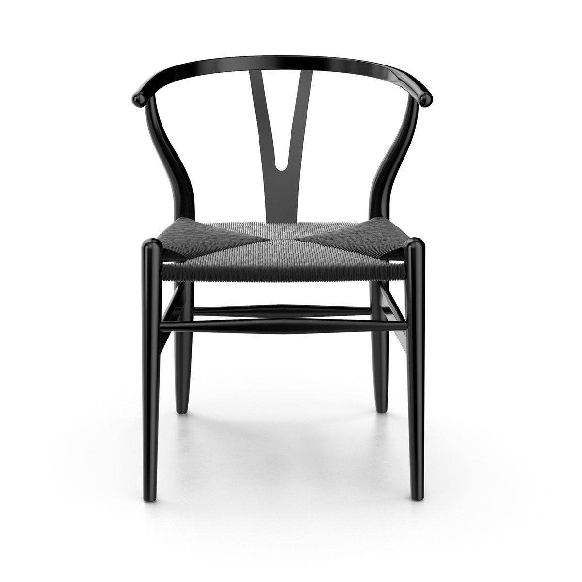 Hans wegner ch24 wishbone chair solid wood dining chairs