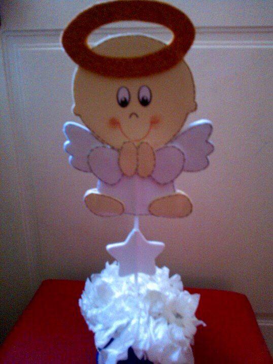 angelito bautizo centro de mesa hecho en goma bautismo angelitas goma angelito bautizo centro de mesa hecho en goma latas decoradas ideas para