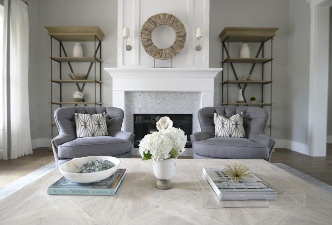 Charmant Living Room Chairs. Grey Living Room Chairs. Chairs Are Pottery Barn  Cardiff Chairs In