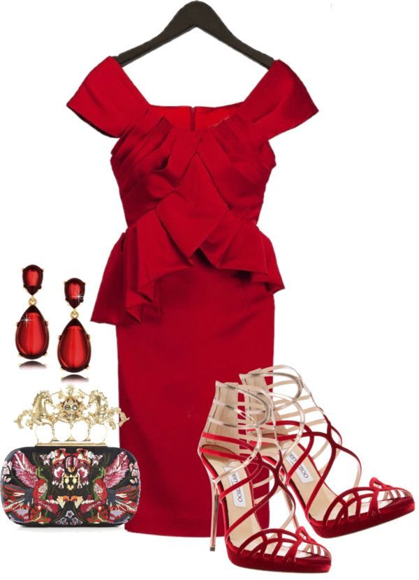 """Romantic Dinner in Little Red Dress"" by mikalifashion on ..."