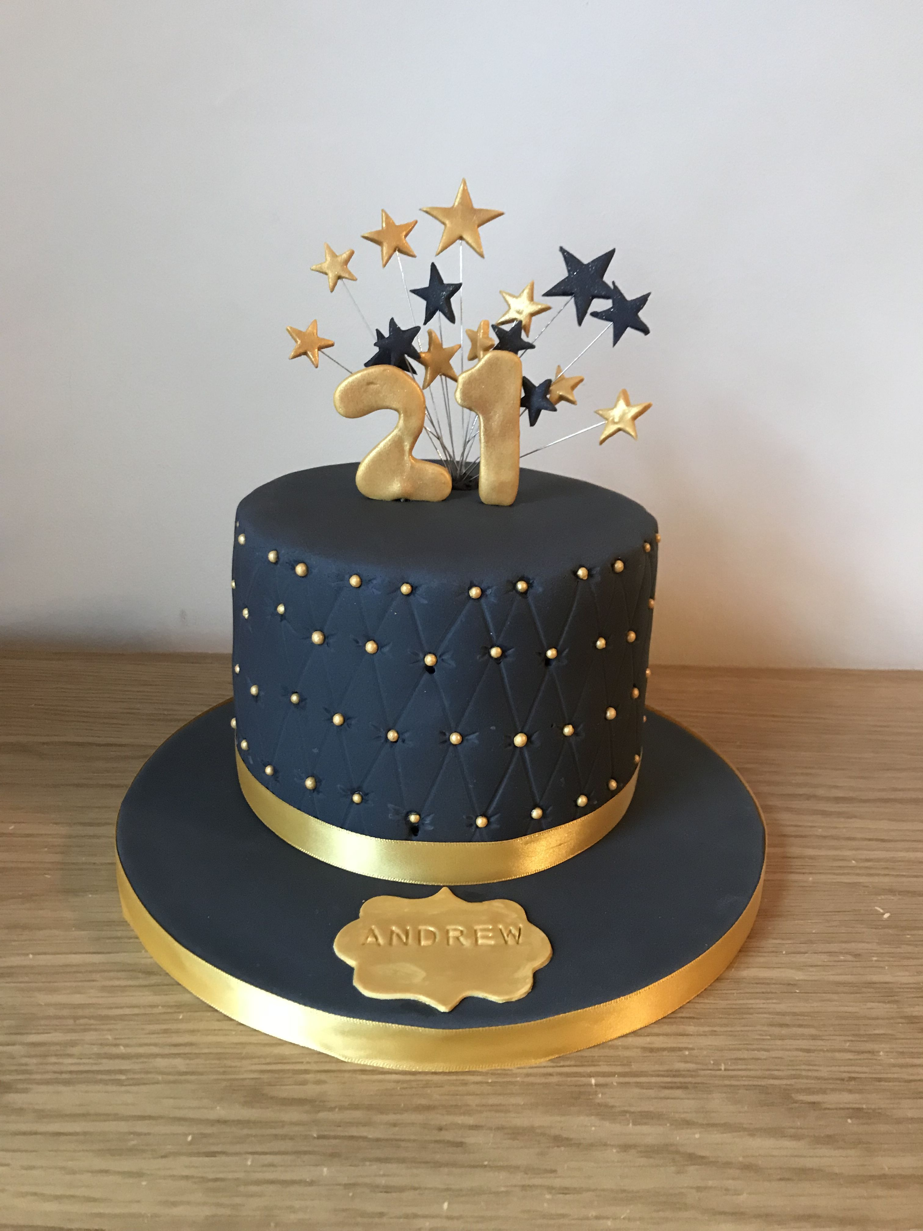 Black And Gold 21st Cake Boys 1st Birthday Cake Black And Gold
