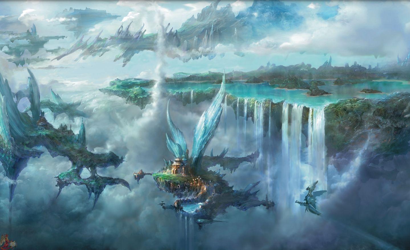 Fantasy Landscape Hd Wallpapers Final Fantasy Final