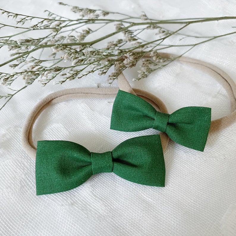 Newborn Headbands St Patricks Day Headband Green Headband Baby Headbands Infant Headband Bow Headband Baby Headband