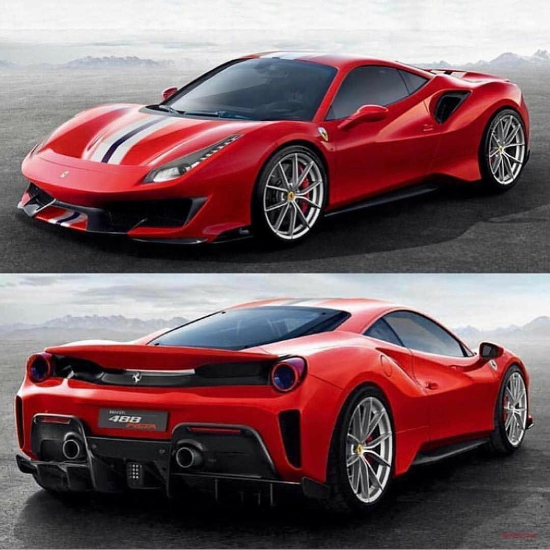 Ferrari 488 Pista Red Autok Sportautok Jarmuvek