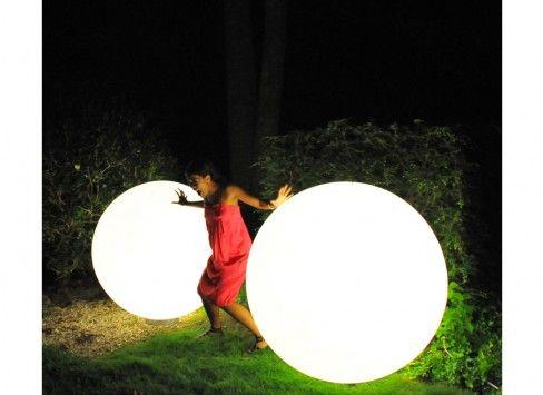 Slide globo interni esterni led senza fili con batteria sfere