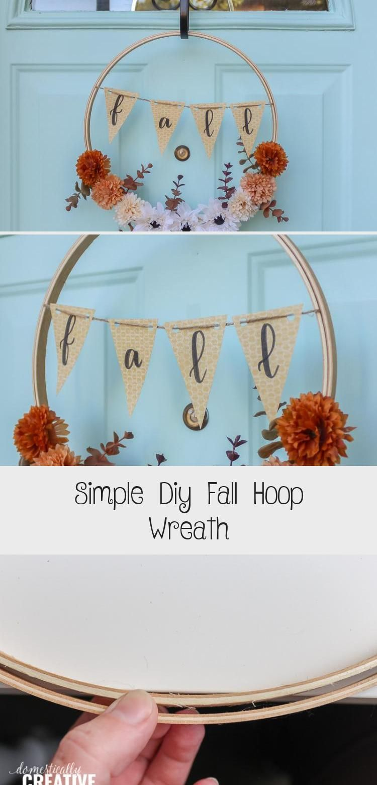 Simple Diy Fall Hoop Wreath - Decor Dıy,  #Decor #DIY #easyfallwreathsimple #Fall #Hoop #Simple #Wreath