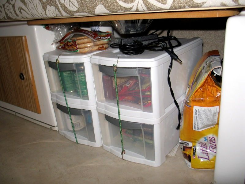 Lovely Food Storage In Our Small Casita Travel Trailer
