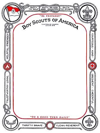 Old Scout Certificate Scout Stuff Pinterest Certificate - certificate border word