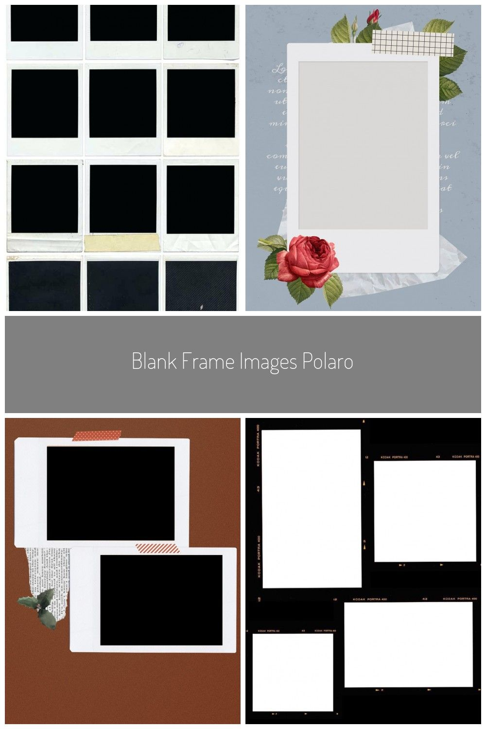 Blank Frame Images Polaroid Collage Template Free Photo Hi Res Frames Polaroid Template Collage Template Image Frame Free Photos