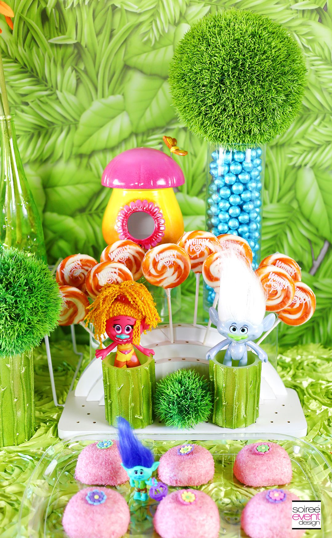 birthday party ideas trolls party ideas trolls candy table