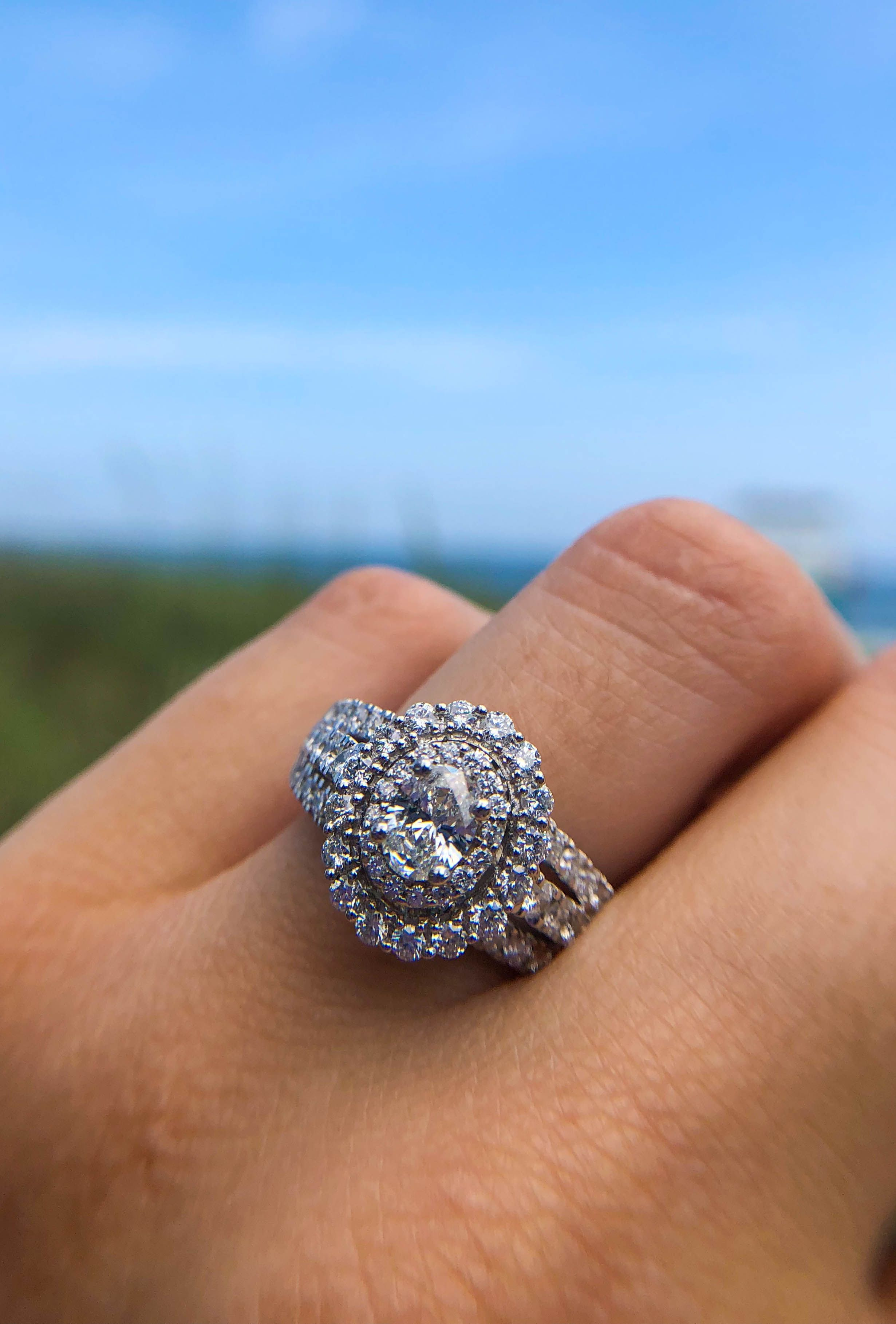 Ellaura Couture Oval Diamond Engagement Ring 1 5 8ctw Oval Diamond Engagement Ring Engagement Rings Engagement Ring Styles