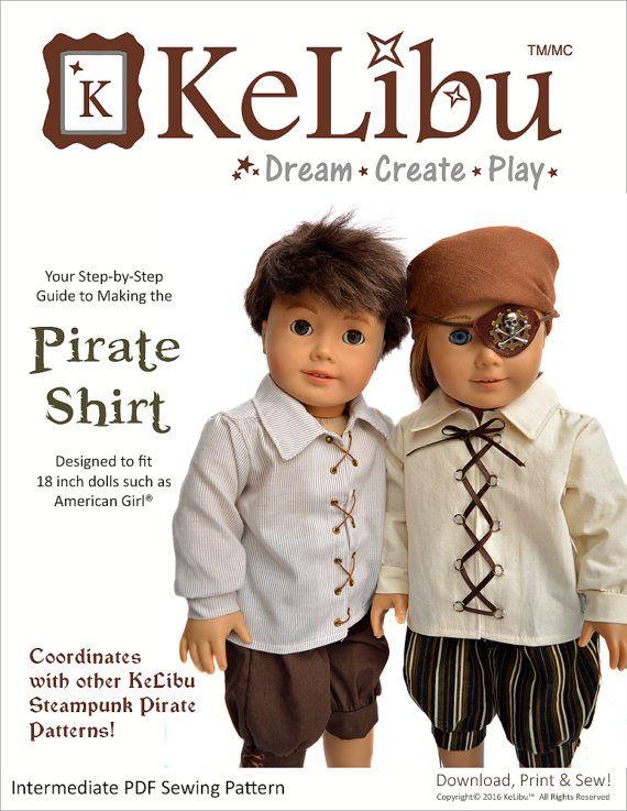 Pixie Faire KeLibu Steampunk Pirate Shirt von PixieFairePatterns ...