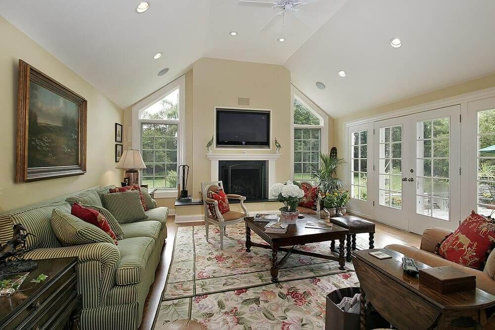 How To Decorate A Large Wall With Vaulted Ceilings With Images