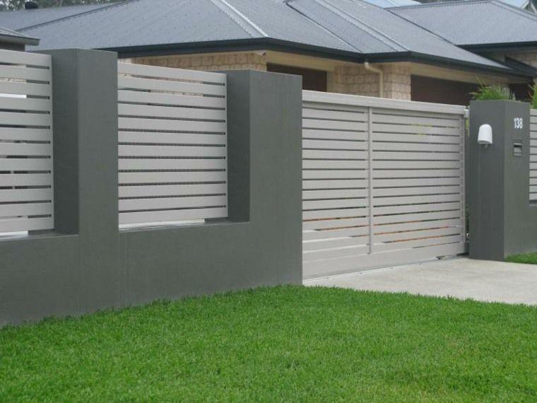 cl tures jardin et portillons pour ext rieurs modernes portillon jardins et ext rieur. Black Bedroom Furniture Sets. Home Design Ideas