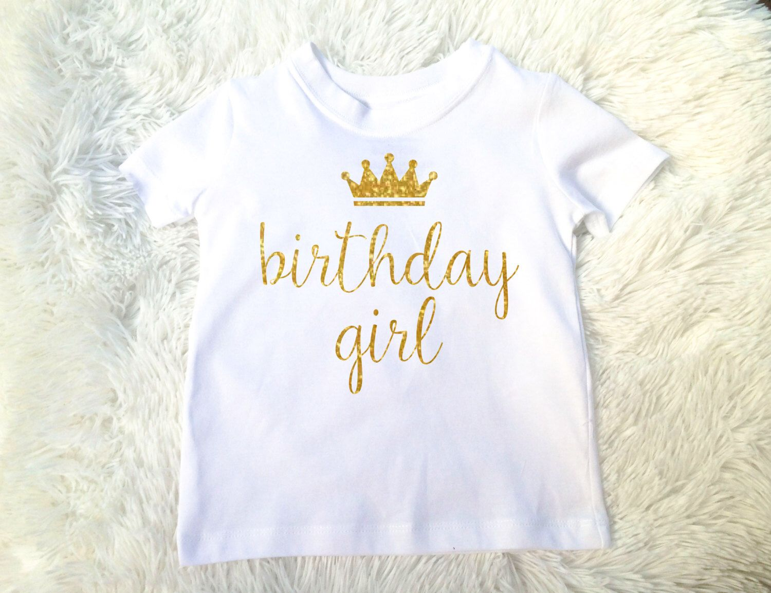 number 1-7 Personalized Birthday with custom name /& age T-shirt Birthday T-shirt for she birthday Crown birthday Fast Shipping!