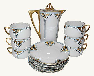 Favorite Bavaria Silesia Coffee Set Art Nouveau Porcelain China Ebay Coffee Set China Porcelain Porcelain