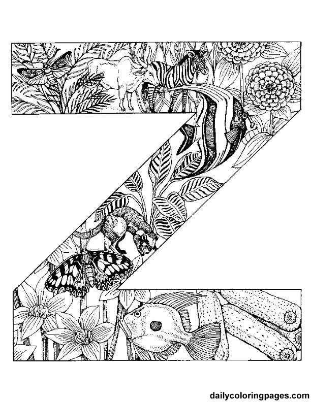 Z Animal Alphabet Letters To Print Png 612 792 Pixels Animal Coloring Pages Alphabet Coloring Pages Animal Alphabet Letters