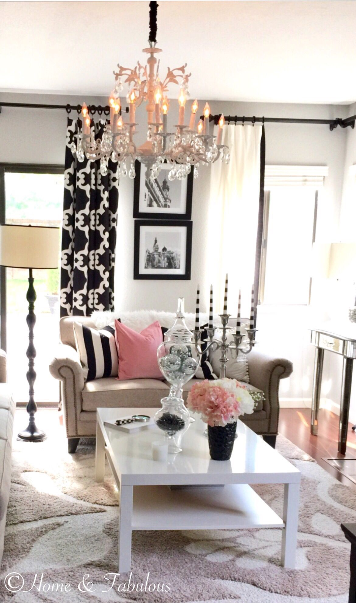 Crystal And Black Accessories From HomeGoods Are Perfect For This Room  (sponsored Pin)