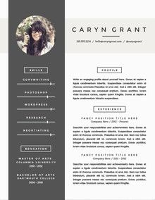 One Of Our Many Modern Resume Templates  Resume Templates