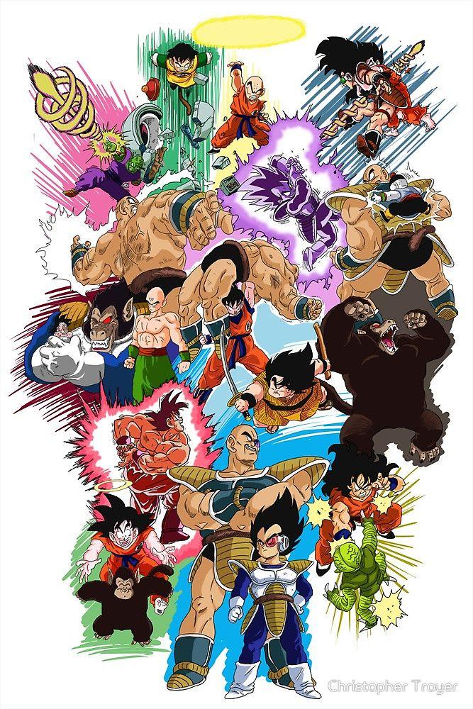 Dragon Ball Z Saiyan Saga Via Tumblr Desenhos Dragonball Anime Illustration