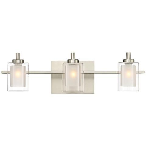 quoizel kolt 21 wide brushed nickel led bath light 18c25 lamps rh pinterest com
