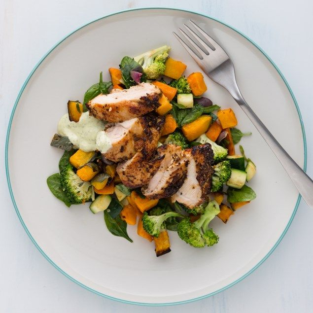 Chicken Thighs With Roasted Vegetables: BBQ Chicken Thighs With Honey Roasted Vegetables