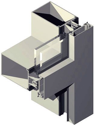 Structural curtain wall (aluminium and glass) - Unicel ...