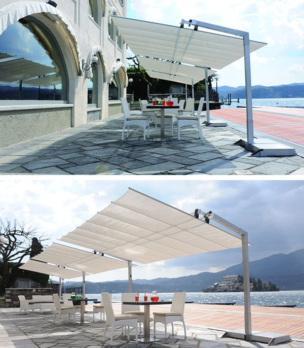 Flexy Freestanding Dual Post Shade System Fim Grand Parasol Parasol Rectangulaire Parasol Terrasse