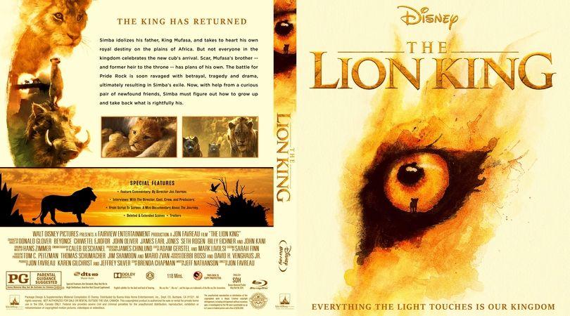 The Lion King 2019 Blu Ray Custom Cover Custom Bd Cover