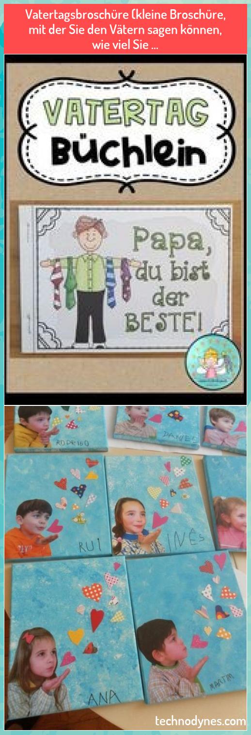 Photo of Vatertagsbroschüre (kleine Broschüre, mit der Sie Vätern sagen können, was …